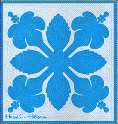 Hawaii, Hibiscus quilt pattern