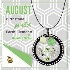 Origami Owl August-inspired product design!  Follow BRENDA STER on FB:  http://www.facebook.com/charmedsuite