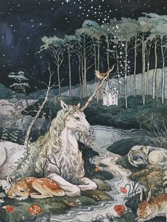 sosuperawesome: Art Prints by Lily Seika Jones on. Ink Illustrations, Art And Illustration, Art Bizarre, Arte Obscura, Fairytale Art, Fairytale Drawings, Fairy Art, Psychedelic Art, Pretty Art