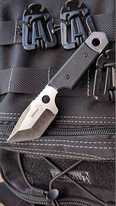 Boker Plus Tanto Dashi Tactical EDC Fixed Neck Knife Blade - Everyday Carry Neck Knife