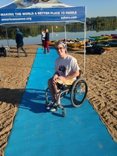 AccessMat™ is a portable and removable rollout beach access mat for handicapped, wheelchair and stroller access to beaches and recreational areas.