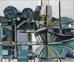 Birolli, Renato (1905-1959) - 1947 Trinite Sur Mer - We looked at some of his work in my Italian Art History class and I LOVE his abstraction and color palate in his works like this one.