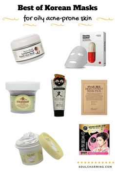 The Best Korean Masks for Oily And Acne-Prone Skin To Try In 2017. There are tons of great Korean clarifying and detoxifying masks to absorb dirt and excessive sebum without stripping out our skin. Here the Koran mask I most love so far.