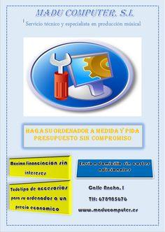 Tarea global II: Madu Computer, creación de un anuncio sobre informática y su posterior presupuesto a un compañero.