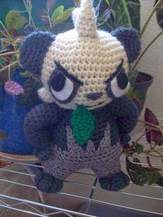 Pancham - Pokemon Character - Free Amigurumi Pattern here: http://katscreations.blogspot.com.es/2014/06/pancham.html