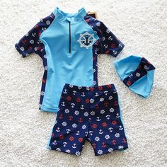 0974eb252cd11 New Arrival Kids Lovely Swimsuit Quality Boys Swimwear Teenagers Two-pieces  Cute Blue Red Bath Suit Infant Children Beachwear [orc32827903023] - $48.88