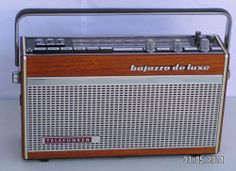 SHORTWAVE RADIO TELEFUNKEN BAJAZZO DE LUXE 201 in REAL WOOD CASE BROADCAST