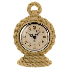 Buy Prinz Hatteras Resin Rope Table Clock in Natural from Bed Bath & Beyond