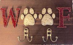 custom string art dog pet leash holder rack