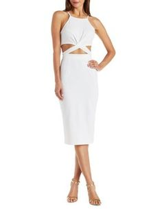 Crossover Cut Out Bodycon Dress