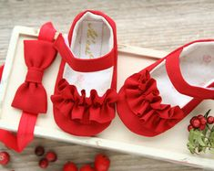 Marfil bautizo zapatos zapatos de bautismo por MartBabyAccessories