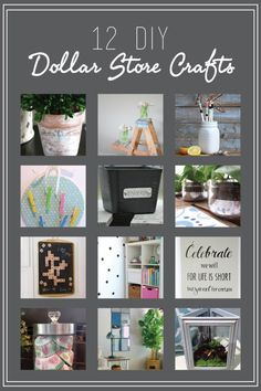 12 Dollar Store Crafts you haven't seen before.  {Canary Street Crafts}