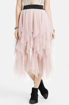 Free People Ruffle Tulle Skirt | Just got this, gonna wear it with black combat boots. Now what top...?