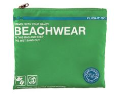 Go Clean Beachwear Bag and other great travel bags and pouches from Flight Clean Beach, Enjoying The Sun, Green Bag, Travel Accessories, Summer Beach, Palm Beach, Traveling By Yourself, Beachwear, Zip Around Wallet