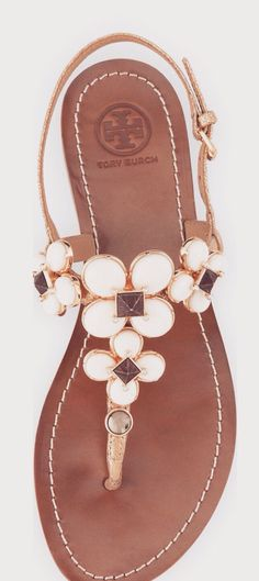 Tory Burch Embellished Sandals: ננ ⚜ Boɧo Ꮥคภdคɭs ⚜ Ꮥṭrѧpʂ & Ꮥṭoภƹʂ ⚜ננ