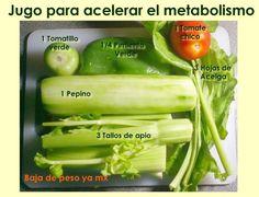 Zumo / Jugo para acelerar el metabolismo