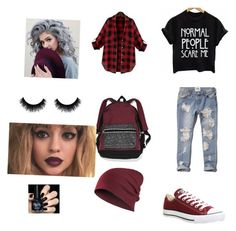 """Grudge"" by smileyface3101 on Polyvore featuring Abercrombie & Fitch, Converse and Victoria's Secret"