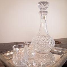 Karaffe aus Bleikristall mieten - bei One Fancy Fox Hochzeits- und Vintage - Verleih