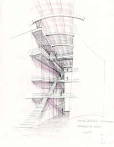 Drawing ARCHITECTUREloft sketch up style construct photoshop denis technic
