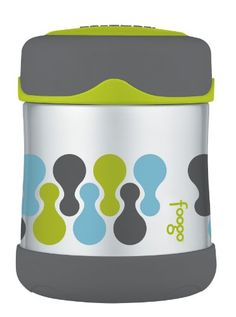Foogo stainless steel thermos.  The top is small enough that kids can open and close the container easily.