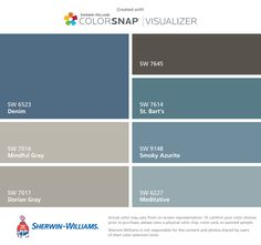 I found these colors with ColorSnap® Visualizer for iPhone by Sherwin-Williams: Steamed Milk (SW Kilim Beige (SW Nomadic Desert (SW Unusual Gray (SW Jubilee (SW Superior Bronze (SW Inkwell (SW