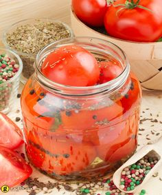 Enjoy your summer harvest of homegrown tomatoes through the fall and winter by preserving them with this recipe for pickled tomatoes. Pickled Tomatoes, Canning Tomatoes, Makeover Essentials, Homemade Apple Pies, How To Make Sausage, Polish Recipes, Polish Food, Canning Recipes, Pickles