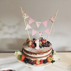 Naked first birthday cake