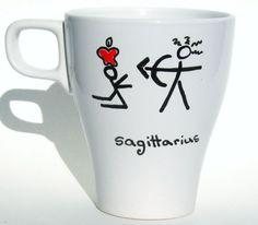 Sagittarius Zodiac Mug / Astrology Personalized Gift / by 39Cups, $12.95