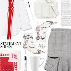 A fashion look from March 2018 featuring Monse tops, Monse skirts and Monse ankle booties. Browse and shop related looks. Polyvore Outfits, Polyvore Fashion, My Outfit, Cute Outfits, Fashion Looks, Style Inspiration, My Style, How To Wear, Shopping