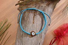 Check out this item in my Etsy shop https://www.etsy.com/listing/526935895/evil-eye-adjustable-knit-string-bracelet