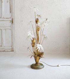 1960's french golden lamp