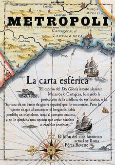 La Carta Esférica, una película basada en el libro de Pérez Reverte, 2007. Ilustración de Raúl Arias.