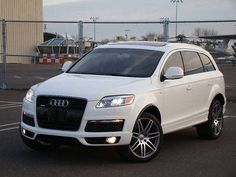 4.2L S-Line Q7 in WHITE my favorite car color!