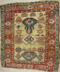 Unique Kurdish Bijar rug > c. 1850