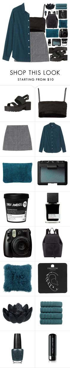 """"""" Fractured moonlight on the sea. """" by centurythe ❤ liked on Polyvore featuring rag & bone, NARS Cosmetics, MiN New York, Fujifilm, Mansur Gavriel, Topshop, Sia, OPI, Marc Jacobs and platforms"""