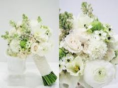 The bouquet consisted of pale yellow daffodil, cream spray rose, white ranunculus and scabiosa, pale pink lilac and ornithogalum.