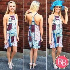 We've got Summer, Sunshine & DERBY on our minds with this NEW ARRIVAL!!  [Tilly Tassel Dress + The Aqua Annie Hat] #bbgirls #dress #derby #hat www.brandisboutiqueshop.co