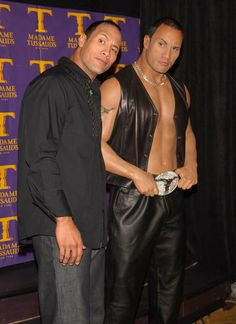 Can You Tell the Celebrity From the Wax Figure?: Ryan Reynolds celebrated his birthday in Oct. 2013 by meeting his wax figure in New Orleans, LA.: Colin Farrell examined his blond wax double in NYC in November 2004. : In NYC, Dwayne Johnson unveiled his wax portrait in April 2002.