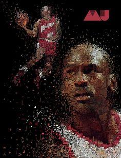 Michael Jordan 'MJ Pattern' Art