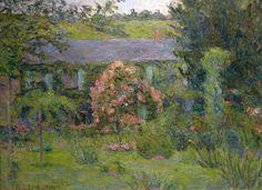 Blanche Hoschedé, huis in Giverny, 1891, www.artedelledonne.wordpress.com