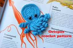 This is an electronic pattern for crochet a Octopus Applique (ornament). Tutorial-Pattern in English will be available for download in the form of PDF file after your payment. Tutorial includes a detailed schemes and pictures describing the process. No refund and no exchange because