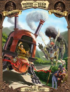 Le lièvre et la tortue - Jean de La Fontaine #Steampunk - Jeff Zugale   #Hare…