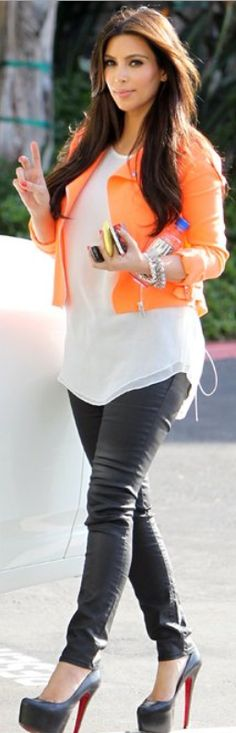 Love Orange blazer.i hate her want her clothes