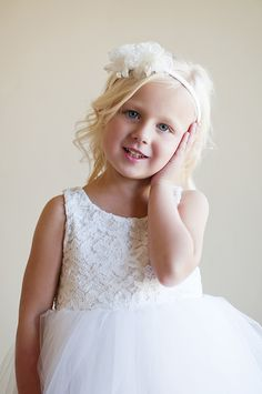 Lace flower girl dress ... ivory lace flower girl dress .. white lace dress £76.00