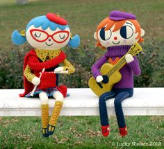 Happy Go Lucky. She creates these needle felted characters from her surface pattern work.  Bonjour Margaux and Hendrik!