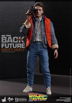 Back to the Future Marty McFly Sixth Scale Figure by Hot Toy   Sideshow Collectibles