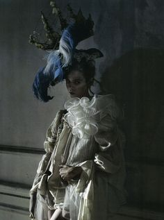 "Tim Walker's Wonderland, ""Lady Gray"" with models Stella Tennant & Morris Clarke"