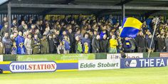A full house at Warrington Town FC for the historic 1-0 victory over League Two Exeter City in the FA Cup