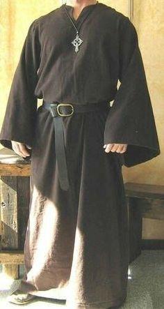 Mens Medieval Costume Fancy Dress Outfit Kurta Kaftan Renaissance Robe T Shirt