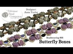 """"""" Butterfly Boxes """" Bracelet - YouTube from Potomac Bead Company... supplies at www.potomacbeads.com"""